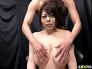 AzHotPorn.com - Too Much Titty-Fucking Sensitive Nipples Lady