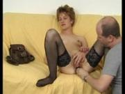 Brunette Gets A Dick In The Mouth