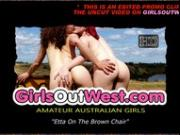 Girls Out West - Randy gipsy toys her hairy pussy