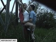 young couple fucking outdoors