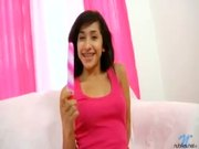 Young Nubile With Braces Plays With New Toy