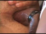 Massaging Hairy Ass by Tongue, Fingers, Candies and Big Cock 