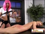 Lesbian Mistress Giving Pain To A Hot Teen Cheerleader
