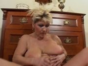 Mature playing with vibrator