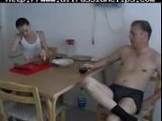 Breakfast russian cumshots swallow