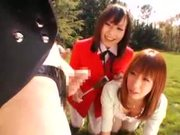 Shy Japan Girl gives Handjob