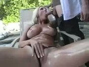 Well poked blonde with spectacular tits
