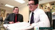 Seth having some gay porn fun with colleague By WorkingCock part3