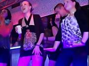 She gets so horny she sucks the male strippers cock