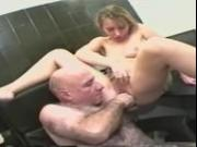 OLD HAIRY GUY HAS THREESOME SEX WITH 2 YOUNG SEXY BLONDE GIRLS