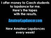 Hot lapdance by czech chubby lady