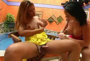 Carla Novaes & Patricia Bismark - Anal sex video - Tube8.com