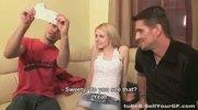 Blonde shocks her boyfriend