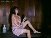Jennifer Babtist Masturbates in the Sauna
