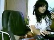 Atrapada en la webcam