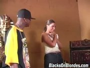 Jayma Ried gets banged by four colored boys  Part 1