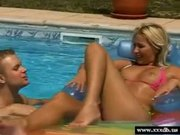 Blonde Teen with nice tits knows how to fuck