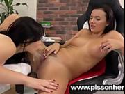 Vanessa Decker uses a speculum and pisses