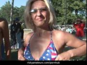 Wild amateur chicks partying like rock stars