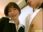 AzHotPorn.com - Office Secretary Who is Especially Nasty