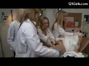 Four Doctors give brunette incredible orgasms
