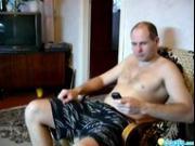 Soviet kinky couple suck 'n fuck in the living