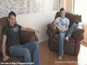 Pair of college boys talk with you