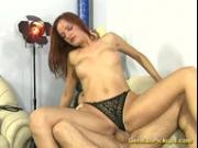 German whore in rough bonking