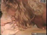 Lecherous lesbians licking each others
