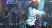 Orgy in danceclub with amateur girls and male strippers