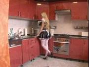 Pretty blonde offers her ass