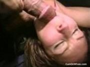 Random amateur wives getting facials