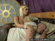 Horny blonde MILF with big tits fucks The Best Man