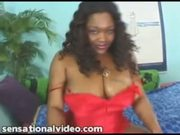 Sexy Busty Black Slut Sucks Huge White Cock