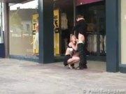Public public sex by a department store