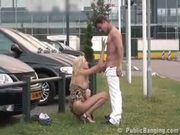 Public  public sex at a car dealership