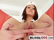 Czech amateur Lidka is hot redhead nurse