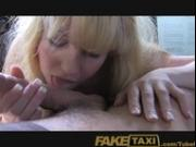 FakeTaxi Hairy ginger pussy takes on big cock