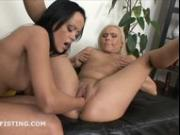 Gorgeous Milena double fists cute friends pussy and ass