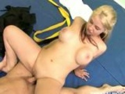 busty blonde fucked by her karate trainer