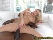 Busty ho black rod facial