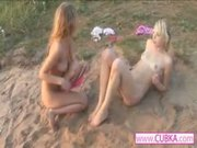 two hot lesbians on the beach