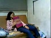 Hot Indian make out on small couch