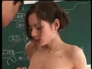 Tina Yuzuki fucked in a classroom