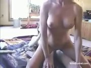 Dildo in pussy, cock up the ass