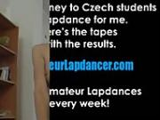 Skinny czech chick and her soft lapdance show
