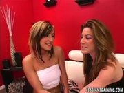Lily Paige and Kaylee Paige Fuck with Dildos
