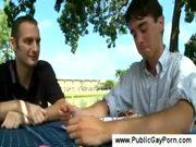 Public gay porn outdoors
