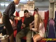 Handjob in Plane