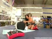lovely chick gets banged by her fitness trainer
